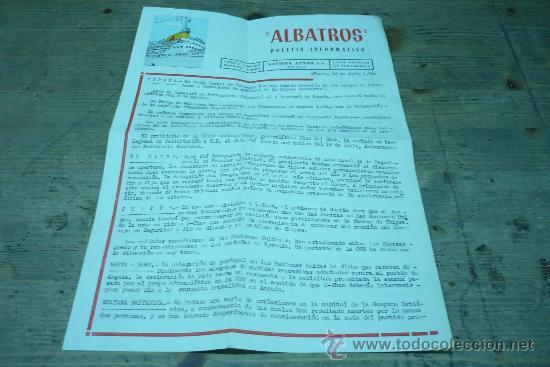 LINEAS DE NAVEGACION-ALBATROS-MONTE UMBE-NAVIERA AZNAR (Coleccionismo - Líneas de Navegación)