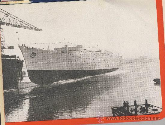 Líneas de navegación: The new-Caronia-cunard white star-folleto presentacion de los astilleros.Desplegable de 4 cuerpos - Foto 4 - 22668838