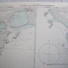 Líneas de navegación: CARTA NAUTICA/NAVEGACION: PLANS IN THE GOLFO DE CALIFORNIA. Lote 23142290