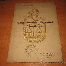 Líneas de navegación: COMISARIADO ESPAÑOL MARITIMO REGLAS DE YORK Y AMBERES 1950. Lote 27123691