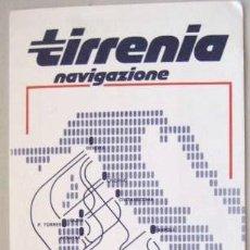 Líneas de navegación: HORARIOS Y TARIFAS. TIRRENIA NAVIGAZIONE. MEDITERRANEO 1985-86.. ENVIO GRATIS¡¡¡. Lote 23916080