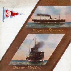 Líneas de navegación: FOLLETO DE TARIFAS COMPAÑÍA TRASMEDITERRANEA BARCELONA-CADIZ-CANARIAS 1925-1926. Lote 27232320