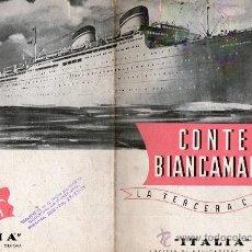 Líneas de navegación: FOLLETO SOCIETA DI NAVIGAZIONE- GENOVA