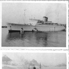 Líneas de navegación: DOS FOTOS DEL BUQUE BIANCA C. COSTA LINEA. AÑOS 50-60. CARIBE + OBSEQUIO. Lote 28682124