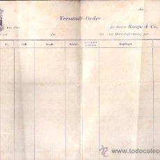 Líneas de navegación: CONOCIMIENTO DE EMBARQUE. RARO. Lote 28921030