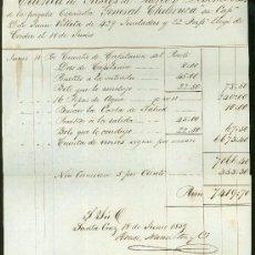 Líneas de navegación: CUENTA DE GASTOS DE PUERTO Y DESEMBOLSOS DE LA FRAGATA GENERAL CHURRUCA, CÁDIZ, 1859. Lote 29046271