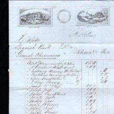 Líneas de navegación: ISLA DE SANTA ELENA. 1860. FACTURA DEL BARCO GENERAL CHURRUCA. Lote 29133036