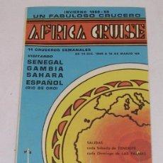 Líneas de navegación: SIOSA LINE - AFRICA CRUISE - M/N JEDINSTVO - 1968 - 1969 - RARO - VER DETALLES. Lote 30184321