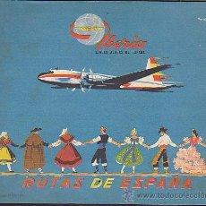 Líneas de navegación: FOLLETO LINEAS AEREAS DE ESPAÑA IBERIA . Lote 30872323