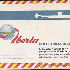 Líneas de navegación: FOLLETO LINEAS AEREAS DE ESPAÑA IBERIA SOBRE CARTA. Lote 30872354