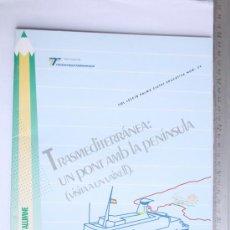 Líneas de navegación: CUADERNO DE TRABAJO ALUMNO ESCOLAR NUMERO 34 TRASMEDITERRANEA PALMA SIN USAR AÑOS 1990. Lote 31521440