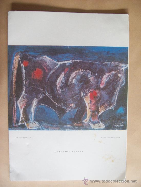 CRUCERO CANALES FUEGUINOS. MENU. TORO IBERICO. MAXIMO DE PABLO. COLECCIÓN YBARRA - 1971 (Coleccionismo - Líneas de Navegación)