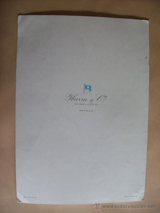 Líneas de navegación: CRUCERO CANALES FUEGUINOS. MENU. TORO IBERICO. MAXIMO DE PABLO. COLECCIÓN YBARRA - 1971 - Foto 3 - 31764003
