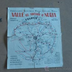 Líneas de navegación: ANTIGUO PAPEL DEL VALLE DE SANTUARIO DE NURIA, CATALUNYA. MAPA DE FERROCARRIL ELECTRICO.. Lote 31873671