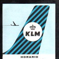 Líneas de navegación: CATALOGO DE LA AEROLINEA KLM CON LOS DESTINOS Y PRECIOS DESDE ESPAÑA A TODA PARTE DEL MUNDO. . Lote 32263082