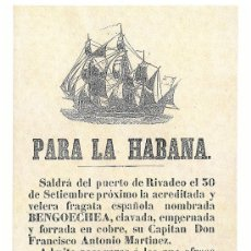 Líneas de navegación: CARTEL ANUNCIO NAVIERA BENGOECHEA DE RIBADEO. Lote 33243716