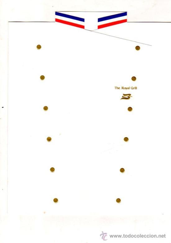 MENÚ DEL BARCO ROYAL VIKING SUN, 1999 (Coleccionismo - Líneas de Navegación)
