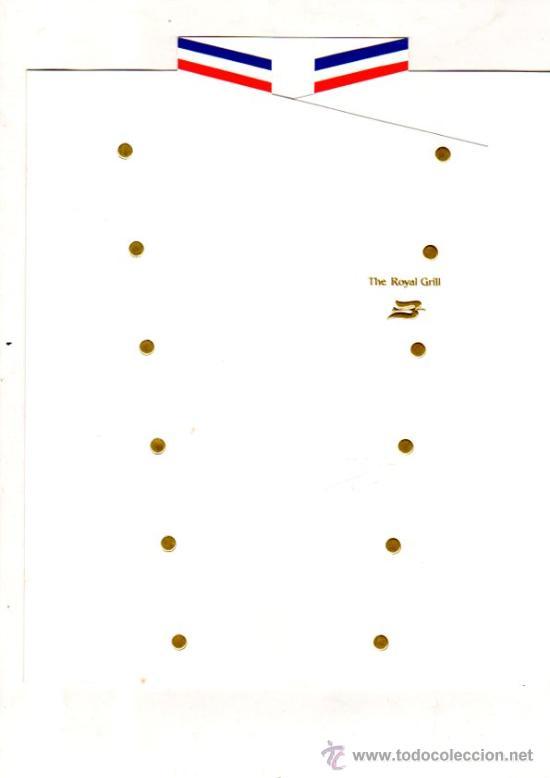 MENÚ DEL BARCO ROYAL VIKING SUN, DE LA NAVIERA ROYAL VIKING LINE, 1997 (Coleccionismo - Líneas de Navegación)