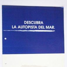 Líneas de navegación: FOLLETO FAST FERRY PRESENTACIÓN BARCO TRASMEDITERRANEA EMBARCACIONES NAVEGACIÓN. Lote 33897175