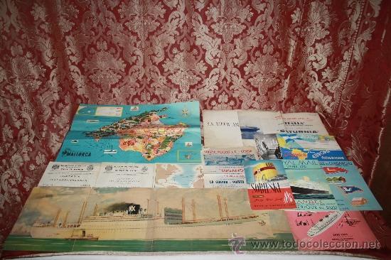 INTERESANTE LOTE DE CATÁLOGOS DE DISTINTAS COMPAÑÍAS MARÍTIMAS DE LOS AÑOS 40/50 (Coleccionismo - Líneas de Navegación)