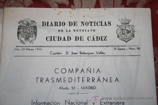 Líneas de navegación: INTERESANTE LOTE DE CATÁLOGOS DE DISTINTAS COMPAÑÍAS MARÍTIMAS DE LOS AÑOS 40/50 - Foto 15 - 35730159
