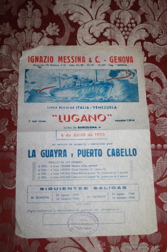 Líneas de navegación: INTERESANTE LOTE DE CATÁLOGOS DE DISTINTAS COMPAÑÍAS MARÍTIMAS DE LOS AÑOS 40/50 - Foto 29 - 35730159
