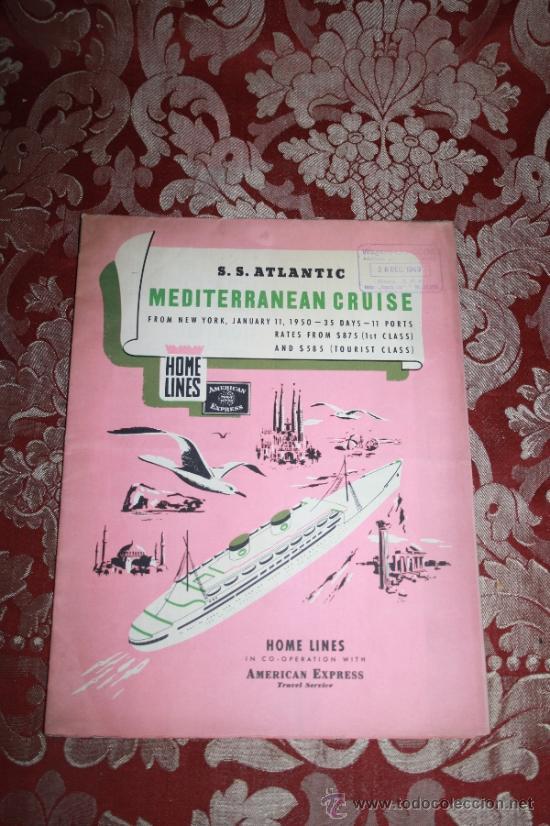 Líneas de navegación: INTERESANTE LOTE DE CATÁLOGOS DE DISTINTAS COMPAÑÍAS MARÍTIMAS DE LOS AÑOS 40/50 - Foto 43 - 35730159