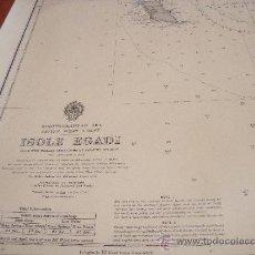 Líneas de navegación: CARTA NAUTICA/NAVEGACION: ISOLE EGADI. Lote 36718334