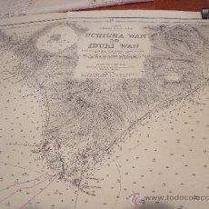 Líneas de navegación: CARTA NAUTICA/NAVEGACION: UCHIURA WAN OR IBURI WAN. Lote 36718542