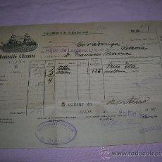 Líneas de navegación: DOCUMENTO DEL VAPOR COVADONGA,ASTURIAS . Lote 36793180