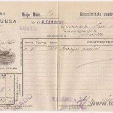 Líneas de navegación: CONOCIMIENTO DE EMBARQUE. FLETE. VAPORES VINUESA. SEVILLA. 1915. Lote 37281370