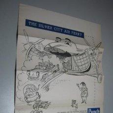 Líneas de navegación: THE SILVER CITY AIR FERRY 1958 - PUNCH - DIBUJOS BROCKBANK. Lote 37349864