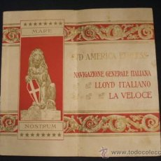 Líneas de navegación: SUD AMERICA EXPRESS - NAVIGAZIONE GENERALE ITALIANA - LLOYD ITALIANO - LA VELOCE - . Lote 37485575