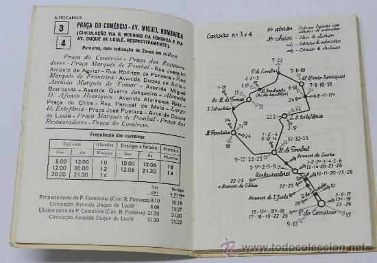 Líneas de navegación: GUIA INFORMATIVO DO SERVIÇO DE AUTOCARROS E CARROS ELÉCTRICOS, tranvia, autobus, Lisboa : Comp. Carr - Foto 3 - 37865477
