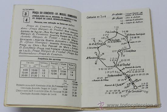 Líneas de navegación: GUIA INFORMATIVO DO SERVIÇO DE AUTOCARROS E CARROS ELÉCTRICOS, tranvia, autobus, Lisboa : Comp. Carr - Foto 4 - 37865477