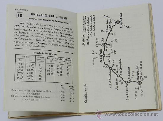 Líneas de navegación: GUIA INFORMATIVO DO SERVIÇO DE AUTOCARROS E CARROS ELÉCTRICOS, tranvia, autobus, Lisboa : Comp. Carr - Foto 5 - 37865477