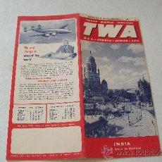 Líneas de navegación: TRANS WORLD AIRLINES TWA U.S.A. -EUROPE-AFRICA-ASIA.- 1951.- INDIA STREET SCENE IN BOMBAY. Lote 37950805