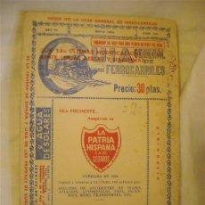 Linhas de navegação: GUIA GENERAL DE FERROCARRILES, AÑO MAYO 1964. Lote 39488758