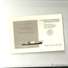 Líneas de navegación: 1272.- LINEAS DE NAVEGACION-TARJETA DE FELICITACION NAVIDEÑA DE ROTTERDAM. Lote 39505873