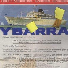 Líneas de navegación: FOLLETO TURISMO CRUCEROS TURISTICO YBARRA MADRID CRUCERO SPITZBERG LINEA SUDAMERICA. Lote 40071106