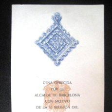 Líneas de navegación: MENÚ IBERIA.BARCELONA 1970. AENA-IBERIA.PALACETE ALBENIZ.. ENVIO GRATIS¡¡¡. Lote 40734949