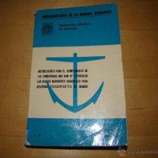 Líneas de navegación: LIBRO DE LA SUBSECRETARIA DE LA MARINA MERCANTE. Lote 40829123