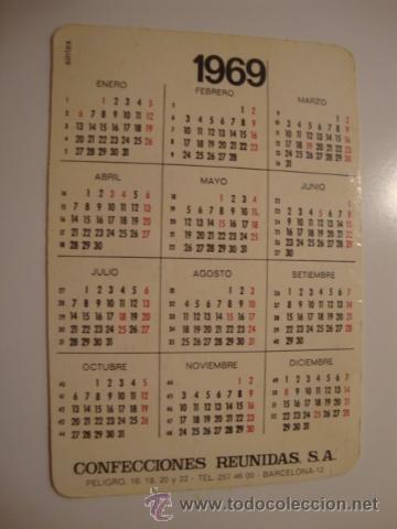 ANTIGUO CALENDARIO PUBLICIDAD AÑO 1969 MUY BUEN ESTADO. L40 (Coleccionismo - Líneas de Navegación)