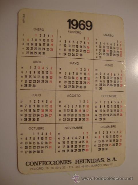 Líneas de navegación: ANTIGUO CALENDARIO PUBLICIDAD AÑO 1969 MUY BUEN ESTADO. L40 - Foto 2 - 41311199