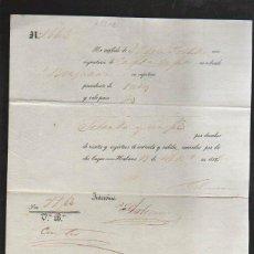 Líneas de navegación: HABANA. RECIBI POR DERECHO DE VISITA Y REGISTRO DE ENTRADA Y SALIDA DE BUQUE. 1855. Lote 42769637