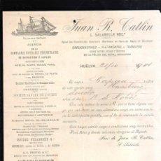 Linee di navigazione: HUELVA. COMPAÑIA HAVRAISE PENINSULAR. 1901. VAPOR CAPUA DESTINO HAMBURGO.. Lote 141772650