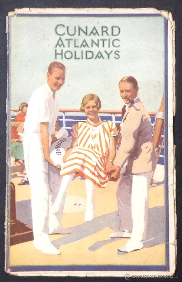 CUNARD ATLANTIC HOLIDAYS. TOUR USA & CANADA. 1926. (Coleccionismo - Líneas de Navegación)