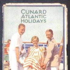 Líneas de navegación: CUNARD ATLANTIC HOLIDAYS. TOUR USA & CANADA. 1926. . Lote 44138464