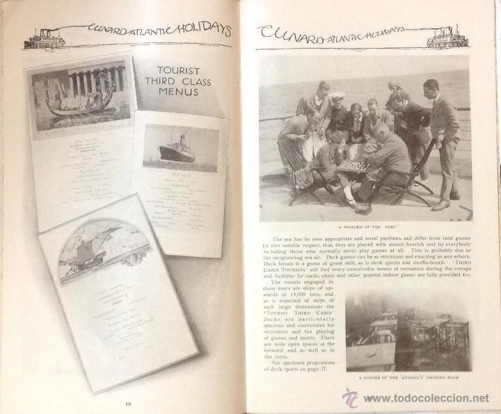 Líneas de navegación: CUNARD ATLANTIC HOLIDAYS. TOUR USA & CANADA. 1926. - Foto 6 - 44138464