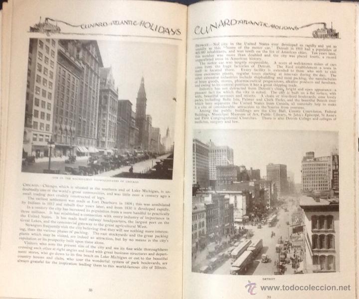 Líneas de navegación: CUNARD ATLANTIC HOLIDAYS. TOUR USA & CANADA. 1926. - Foto 9 - 44138464